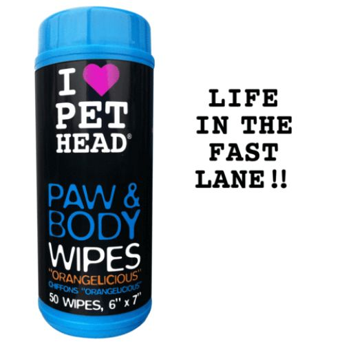 PET HEAD PAW & BODY WIPES 50PK