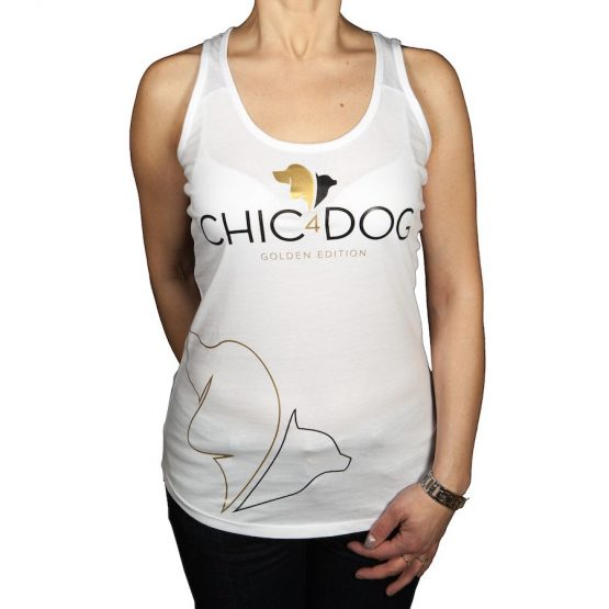 TOP CANOTTA CHIC4DOG - Golden Edition