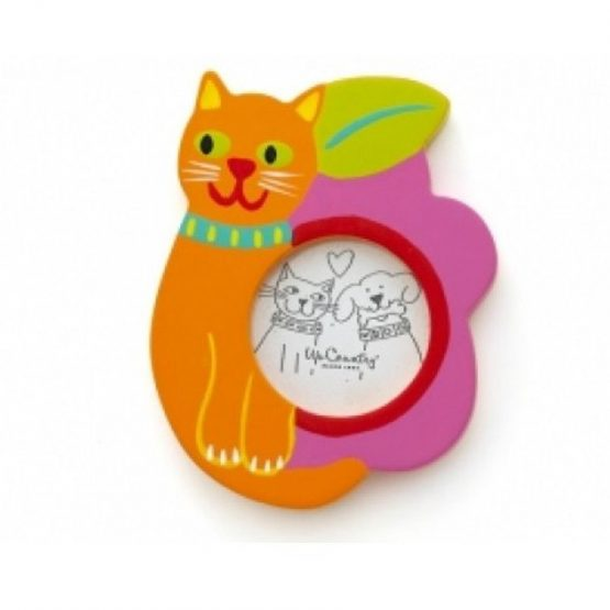 CAT AND FLOWER FRAME ORNAMENT